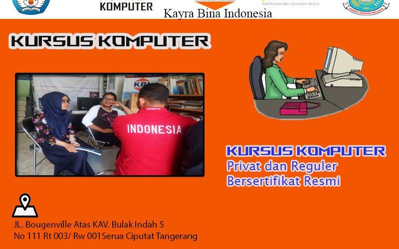 Kursus Komputer Bersertifikat Terbaik di Tangerang