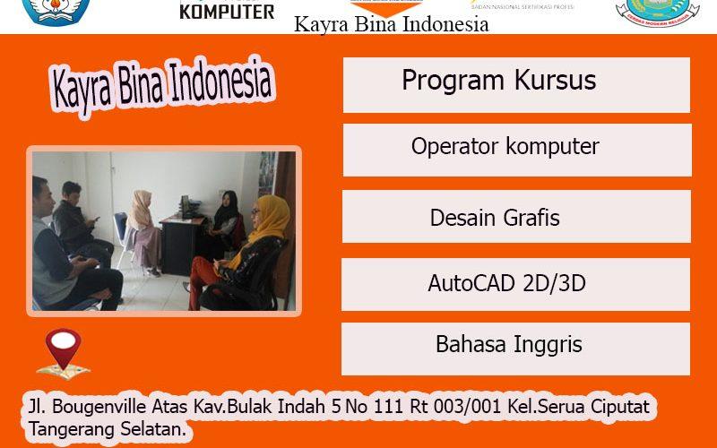 Kursus Komputer  dan Bahasa Inggris Sertifikat Resmi Serua Ciputat Tangerang