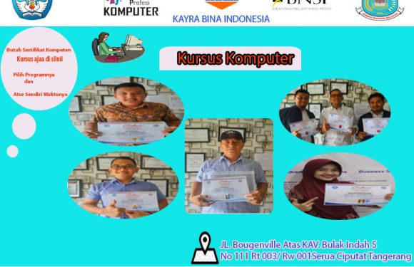 Kursus Komputer Bersertifikat Ciputat |LKP KBI