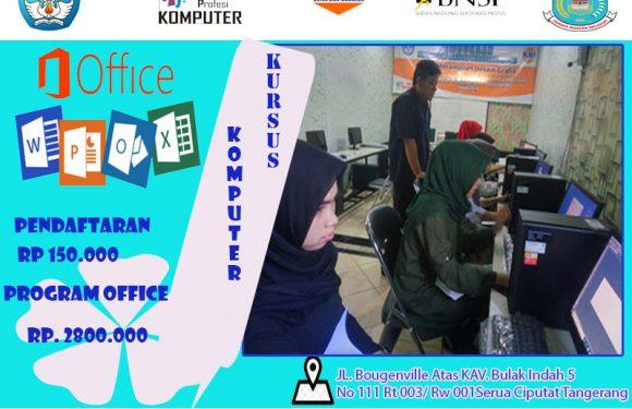 Kursus komputer Office Operator Bintaro|Lkp Kbi