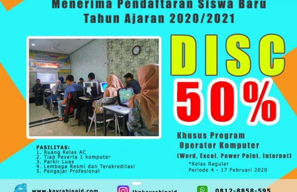Kursus Komputer |Sertifikat Resmi Dinas Ciputat Tangerang.