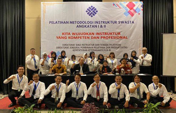 Pelatihan Metodologi Isntruktur Swasta Angkatan I & II dari Kementerian Ketenagakerjaan RI.